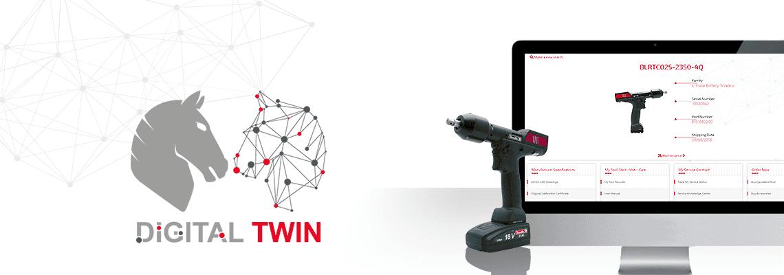Digital Twin är en exakt virtuell kopia av det verkliga verktyget, med information om prestanda, service och underhållskrav. Få tillgång till den exakta virtuella repliken av ditt Desoutter-monteringsverktyg som en självbetjäningsportal 24/7!