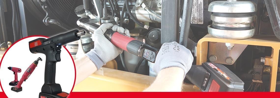 Utforska vårt sortiment av batteridrivna monteringsverktyg: transduceriserade fristående vinklade/pistolgreppsförsedda batteriverktyg, batteridrivna mutterdragare och ergonomiska batteridrivna gripverktyg